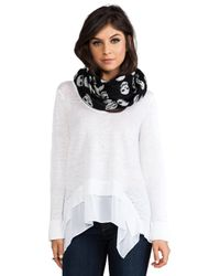 Autumn Cashmere   Skull Infinity Scarf in Black White   Lyst