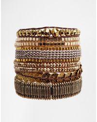 Hipanema | Metallic Platine Gold Friendship Bracelet | Lyst