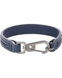 Tod's - Blue Leather Crossroad Bracelet for Men - Lyst