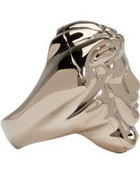Versace - Metallic Gold Medusa Ring - Lyst
