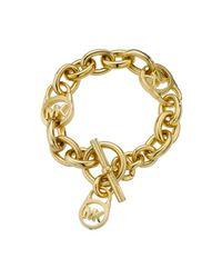 Michael Kors | Metallic Heritage Gold Link Chain Bracelet | Lyst