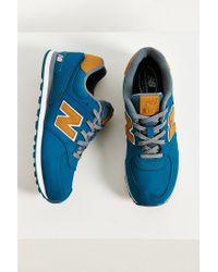 New Balance - Blue 574 Lux Sneaker - Lyst