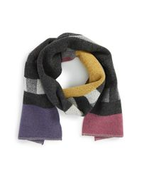 Burberry | Purple Check Wool & Cashmere Blanket Scarf | Lyst