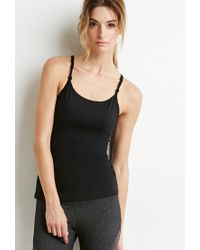 Forever 21 - Black Strappy Back Athletic Tank - Lyst