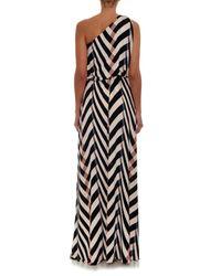 Lanvin - Black Graphic-Print One Shoulder Dress - Lyst