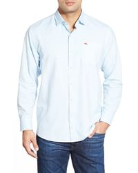 Tommy Bahama | Blue 'island Twill' Island Modern Fit Sport Shirt for Men | Lyst