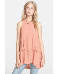 Free People | Orange 'layers In Love' Layered Tunic | Lyst