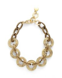 Pono | Metallic Resin Choker Necklace - Brass | Lyst
