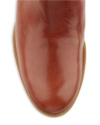Nine West - Natural Vani Leather Riding Boots - Lyst