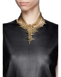 Ela Stone - Metallic Marla Spike Pyramid Chain Plastron Necklace - Lyst