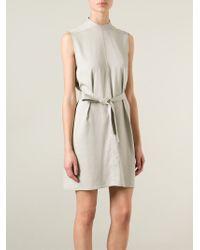 Rick Owens - Natural Belted Dress - Lyst