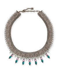 DANNIJO | Metallic Zoe Multi-chain Necklace With Crystal Spikes | Lyst