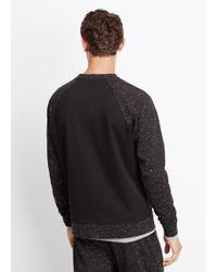 VINCE | Black Raglan Crewneck Sweatshirt for Men | Lyst