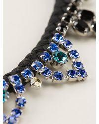 Joomi Lim   Black Braided Bib Necklace   Lyst