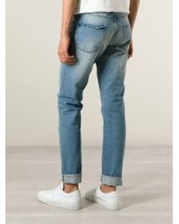 AMI - Blue Distressed Jeans for Men - Lyst