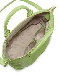 Tory Burch | Small Stackedt Leather Satchel Bag Green | Lyst