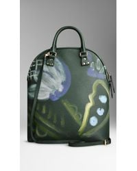 Burberry - Green The Bloomsbury in Handpainted Leather - Lyst