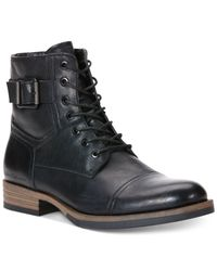 Calvin Klein Jeans - Black Roberts Leather Boots for Men - Lyst