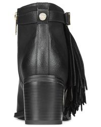 Circus by Sam Edelman - Black Jolie Fringe Ankle Booties - Lyst