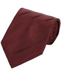 Armani - Red Men's Diagonal-striped Twill Jacquard Necktie for Men - Lyst