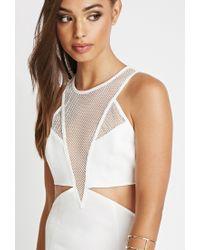 Forever 21   White Reverse Night Cap Dress   Lyst