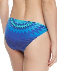 Clube Bossa - Blue Printed Ring-side Swim Bottom - Lyst