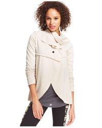Kensie | Natural Draped Jacket | Lyst