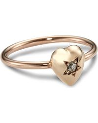 Annina Vogel | Metallic 9ct Rose-gold Diamond Star Heart Ring | Lyst
