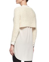 Eileen Fisher - White Fisher Project Textured Crop Top - Lyst