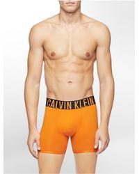 997da1a3db Calvin Klein - Orange Underwear Intense Power Micro Boxer Brief for Men -  Lyst