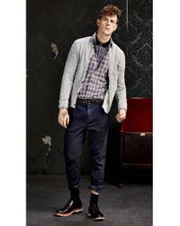 BOSS Orange - Red 'edipoe' | Slim Fit, Cotton Plaid Button Down Shirt for Men - Lyst