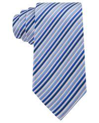 Geoffrey Beene - Blue Stripe Done Right Tie for Men - Lyst