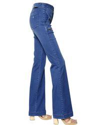 Stella McCartney | Blue Bell Bottom Stretch Cotton Denim | Lyst