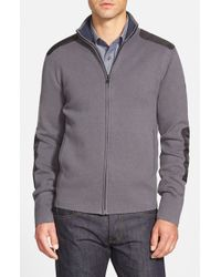 Victorinox | Gray 'karl' Full Zip Cardigan for Men | Lyst