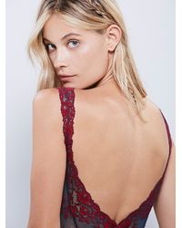 Free People | Red Midnight Hours Bodysuit | Lyst