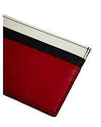 Marni - Red Womens Leather Card Holder - Lyst