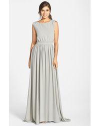 Paper Crown - Gray By Lauren Conrad 'Tori' Crepe Gown - Lyst