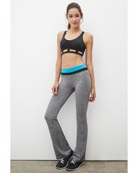 Forever 21 - Black Active Heathered Fit & Flare Yoga Pants - Lyst