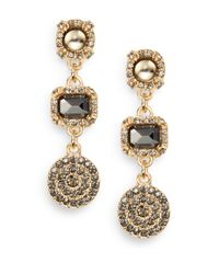 Saks Fifth Avenue | Metallic Triple Medallion Drop Earrings | Lyst