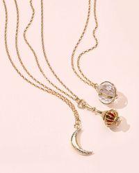 Monica Rich Kosann - Red Dream Moon Charm Necklace With Diamonds - Lyst