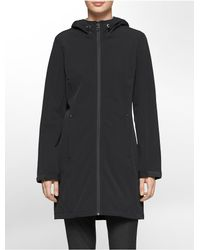 Calvin Klein - Gray White Label Hooded Soft Shell Jacket - Lyst