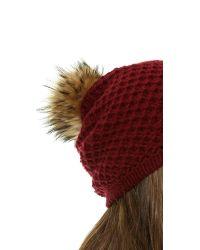 Inverni - Purple Long Wool Cashmere Hat - Lyst