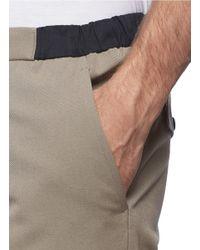 Kolor - Brown Waist Panal Wool Pants for Men - Lyst