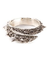 Henson | Metallic 'barb' Wrap Diamond Bangle | Lyst