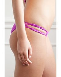 Forever 21 - Purple Braided Cheeky Bikini Bottoms - Lyst