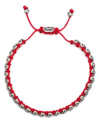 M. Cohen | Red Mini Skull Friendship Bracelet for Men | Lyst