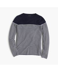 J.Crew | Blue Italian Cashmere Long-sleeve T-shirt In Stripe | Lyst