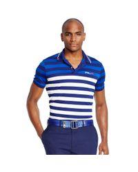 Ralph Lauren | Blue Slim-fit Striped Polo Shirt for Men | Lyst