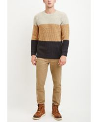Forever 21 | Gray Colorblocked Wool-blend Sweater for Men | Lyst