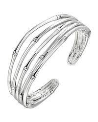 John Hardy | Metallic Bamboo Silver Narrow Flex Cuff for Men | Lyst